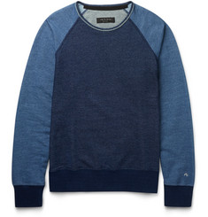 Rag & bone - Slim-Fit Colour-Block Loopback Cotton-Jersey Sweatshirt