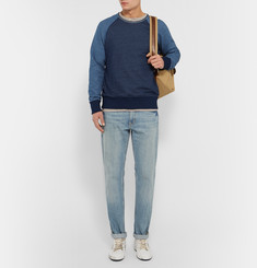 Rag & bone Slim-Fit Colour-Block Loopback Cotton-Jersey Sweatshirt