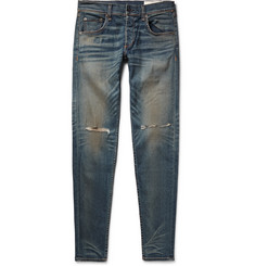 Rag & bone Skinny-Fit 1 Distressed Stretch-Denim Jeans