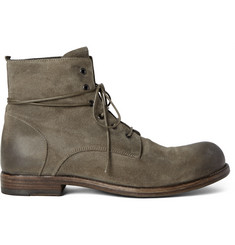 Officine Creative Bubble Burnished-Suede Boots