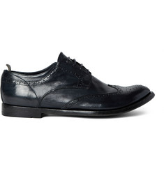 Officine Creative Anatomia Glossed-Leather Wingtip Brogues
