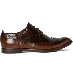 Officine Creative Anatomia Burnished-Leather Wingtip Brogues