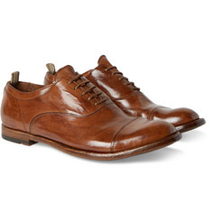 Officine Creative - Anatomia Glossed-Leather Oxford Shoes