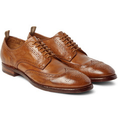 Officine Creative - Princeton Washed-Leather Brogues