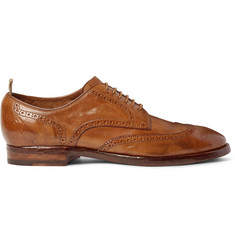 Officine Creative Princeton Washed-Leather Wingtip Brogues