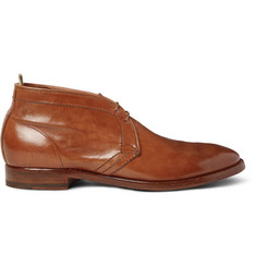 Officine Creative Princeton Polished-Leather Chukka Boots
