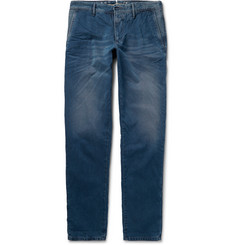 Incotex Slim-Fit Garment-Dyed Washed-Cotton Trousers