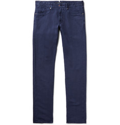 Incotex Chinolino Slim-Fit Linen-Blend Twill Trousers