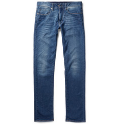 Incotex Slim-Fit Washed Stretch-Denim Jeans