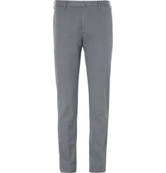 Incotex Slim-Fit Brushed Cotton-Twill Trousers