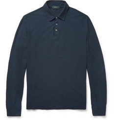 Incotex Cotton-Jersey Polo Shirt