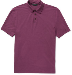 Incotex Iced Slim-Fit Cotton-Jersey Polo Shirt