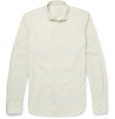 Incotex Slim-Fit Dot-Embroidered Cotton Shirt