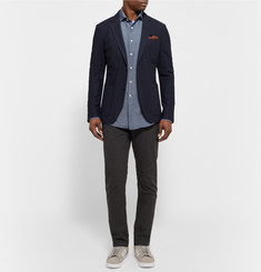 Incotex Slim-Fit Linen and Cotton-Blend Chambray Shirt