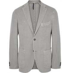 Incotex - Grey Slim-Fit Cotton and Ramie-Blend Blazer