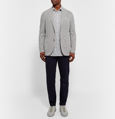 Incotex Grey Slim-Fit Cotton and Ramie-Blend Blazer