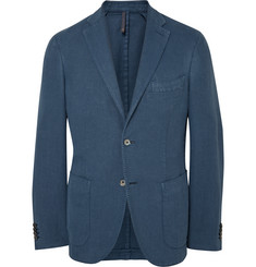 Incotex Blue Slim-Fit Cotton-Blend Blazer