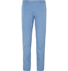 Incotex Slim-Fit Brushed-Cotton Twill Trousers