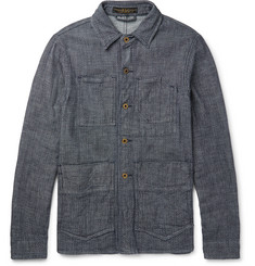 Freemans Sporting Club Indigo-Dyed Dobby Denim Chore Jacket