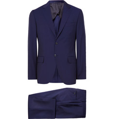 MP Massimo Piombo Navy Slim-Fit Wool and Mohair-Blend Suit