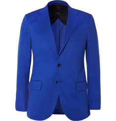 MP Massimo Piombo Blue Slim-Fit Cotton-Twill Blazer