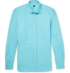 MP Massimo Piombo Cutaway-Collar Cotton Oxford Shirt