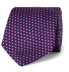 Turnbull & Asser Dotted Silk-Jacquard Tie