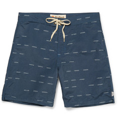 Mollusk - Ogden Long-Length Printed Cotton-Blend Swim Shorts