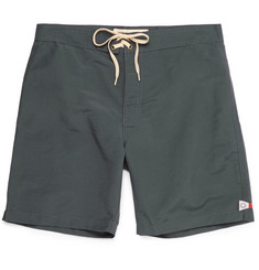 Mollusk - Notched Cotton-Blend Boardshorts