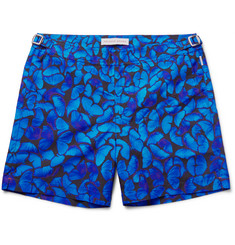 Orlebar Brown Bulldog Butterfly-Print Mid-Length Swim Shorts