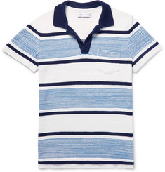 Orlebar Brown Roland Striped Cotton-Terry Polo Shirt
