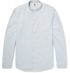 NN.07 Samuel Slim-Fit Grandad-Collar Cotton Oxford Shirt