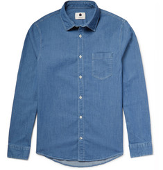 NN07 Frede Slim-Fit Cotton-Chambray Shirt