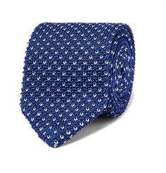 Berluti Chevron Knitted Silk Tie