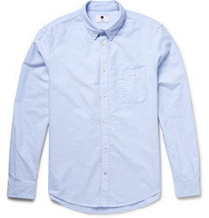 NN.07 New Derek Slim-Fit Button-Down Collar Cotton Oxford Shirt