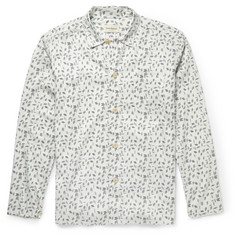 Oliver Spencer Loungewear - Printed Stretch-Cotton Pyjama Shirt