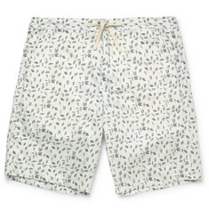 Oliver Spencer Loungewear - Printed Stretch-Cotton Pyjama Shorts