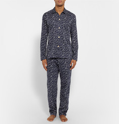 Oliver Spencer Loungewear - Printed Stretch-Cotton Pyjama Trousers
