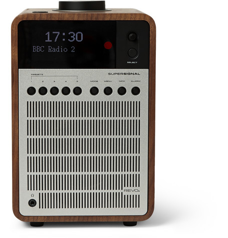 Super Signal Walnut And Aluminium Digital Radio by Revo