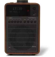 Revo SuperSignal Walnut and Aluminium DAB/DAB+/FM Table Radio