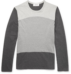 Aloye + Beams Panelled Cotton-Jersey T-Shirt