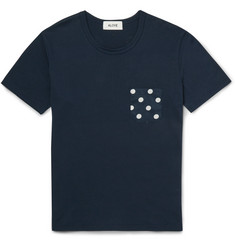 Aloye + Beams Polka-Dot Cotton-Jersey T-Shirt