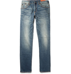 Jean Shop Slim-Fit Washed Selvedge Denim Jeans