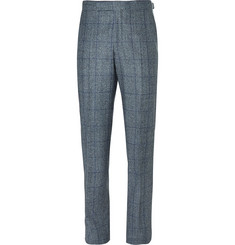 Richard James Blue Hyde Prince of Wales Checked Wool Trousers