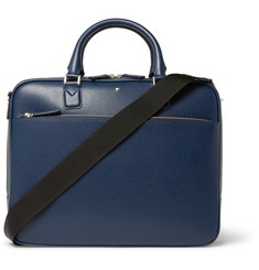 Montblanc Indigo Small Textured-Leather Briefcase