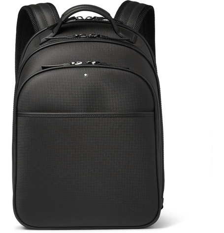 montblanc male 188971 montblanc extreme small texturedleather backpack black