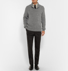 Kingsman Shawl-Collar Wool and Cashmere-Blend Sweater