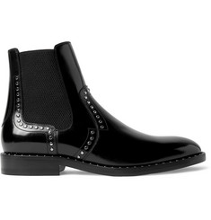 Jimmy Choo Fergus Studded Polished-Leather Chelsea Boots