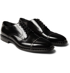 Jimmy Choo - Parris Studded Polished-Leather Derby Shoes