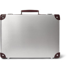 Globe-Trotter + EKOCYCLE™ Leather-Trimmed Aluminium Attaché Case